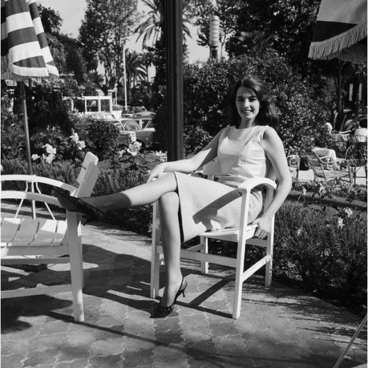Christine Keeler, pictured in Cannes in 1963, at the height of the scandal.